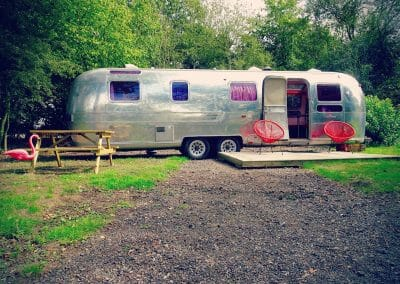 Airstream Sovereign glamping decking