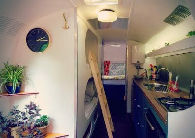 Airstream Sovereign glamping interior
