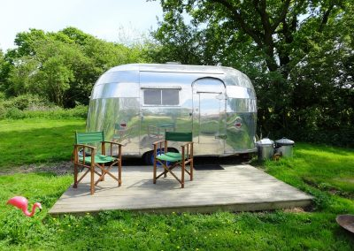 Airstream glamping Bubble Norfolk