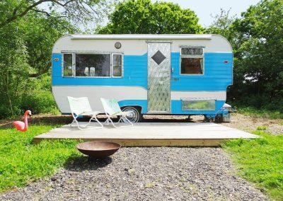 Jewel caravan glamping Norfolk